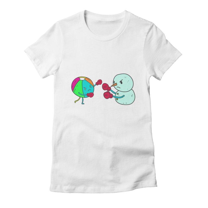 Summer v winter Women's Fitted T-Shirt by JMK's Artist Shop