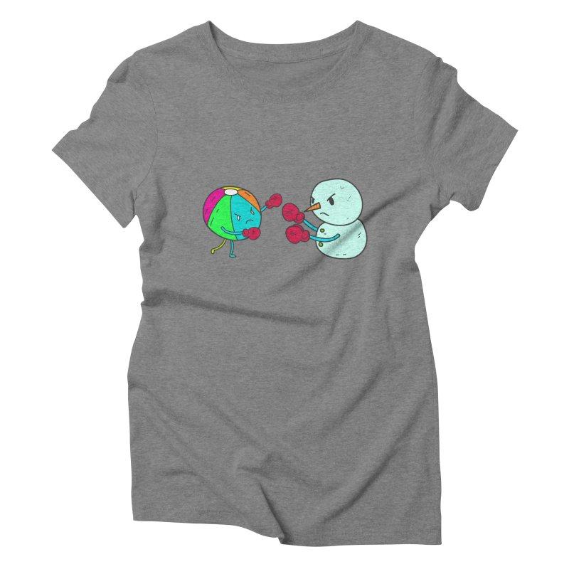Summer v winter Women's Triblend T-Shirt by JMK's Artist Shop
