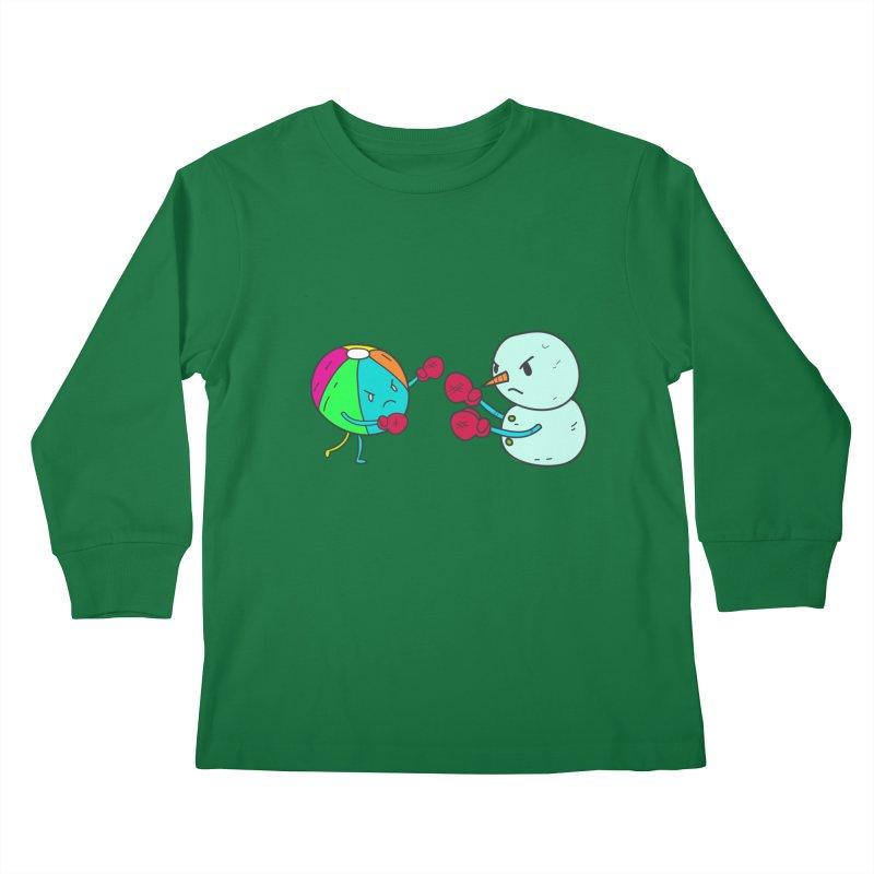 Summer v winter Kids Longsleeve T-Shirt by JMK's Artist Shop