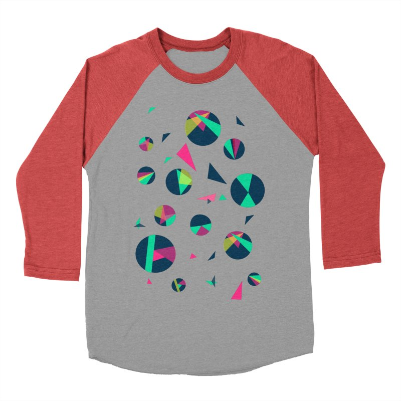 Circle Me Women's Baseball Triblend T-Shirt by JMK's Artist Shop