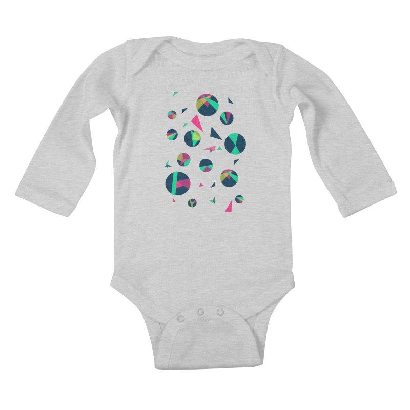 Circle Me Kids Baby Longsleeve Bodysuit by JMK's Artist Shop
