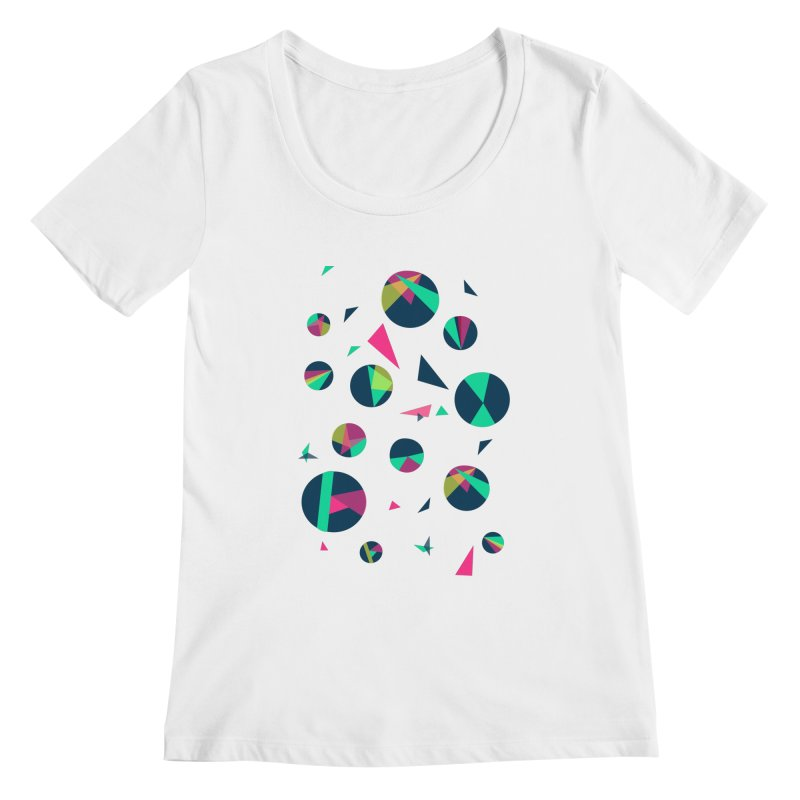 Circle Me Women's Scoopneck by JMK's Artist Shop
