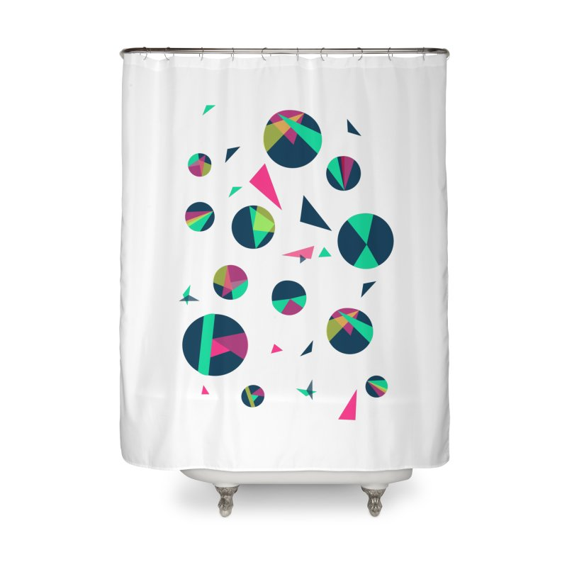 Circle Me Home Shower Curtain by JMK's Artist Shop