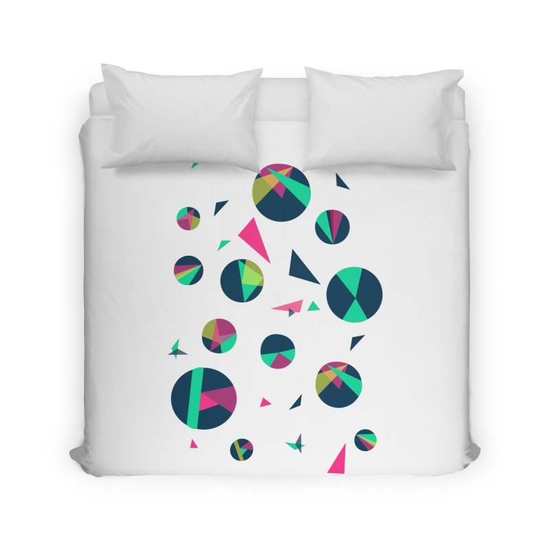 Circle Me Home Duvet by JMK's Artist Shop