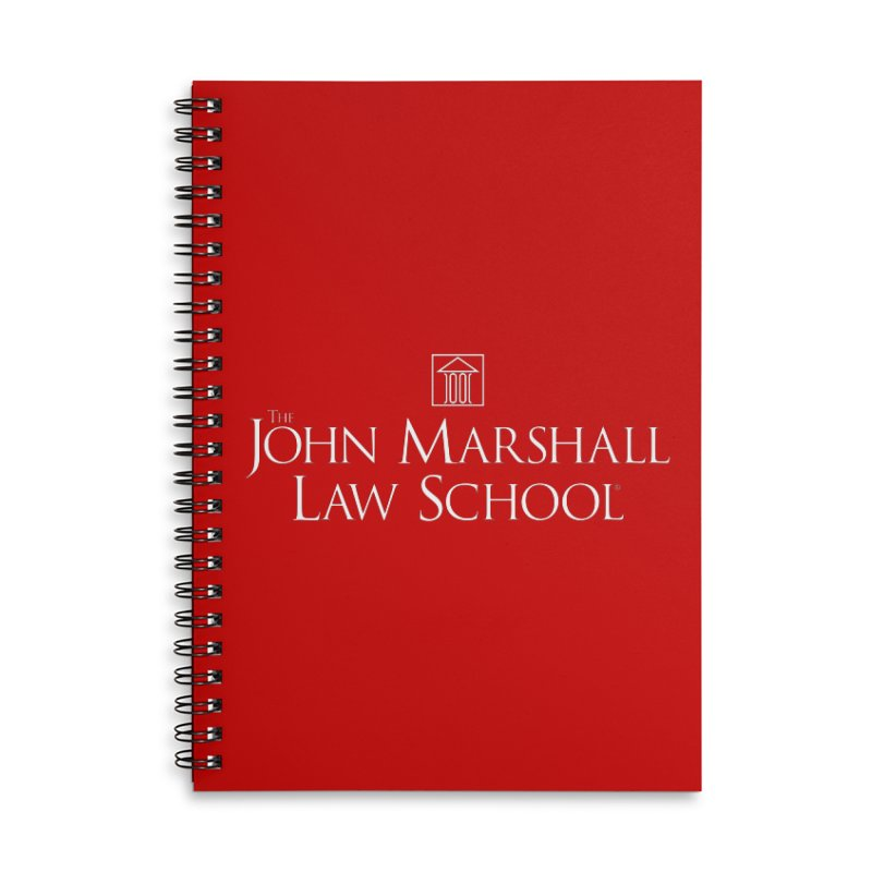 JMLS Logo Accessories Lined Spiral Notebook by John Marshall Law School