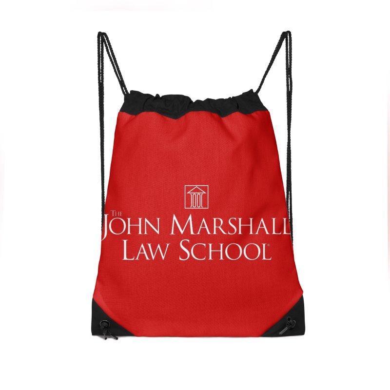 JMLS Logo Accessories Drawstring Bag Bag by John Marshall Law School