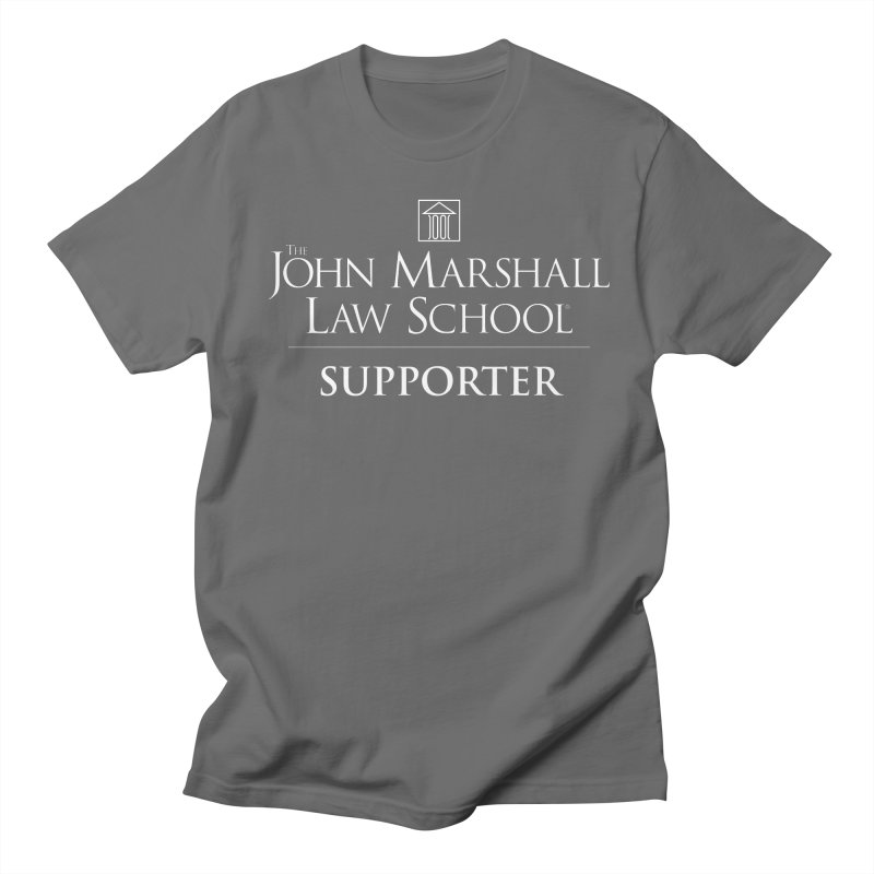 JMLS Supporter in Men's Regular T-Shirt Asphalt by John Marshall Law School