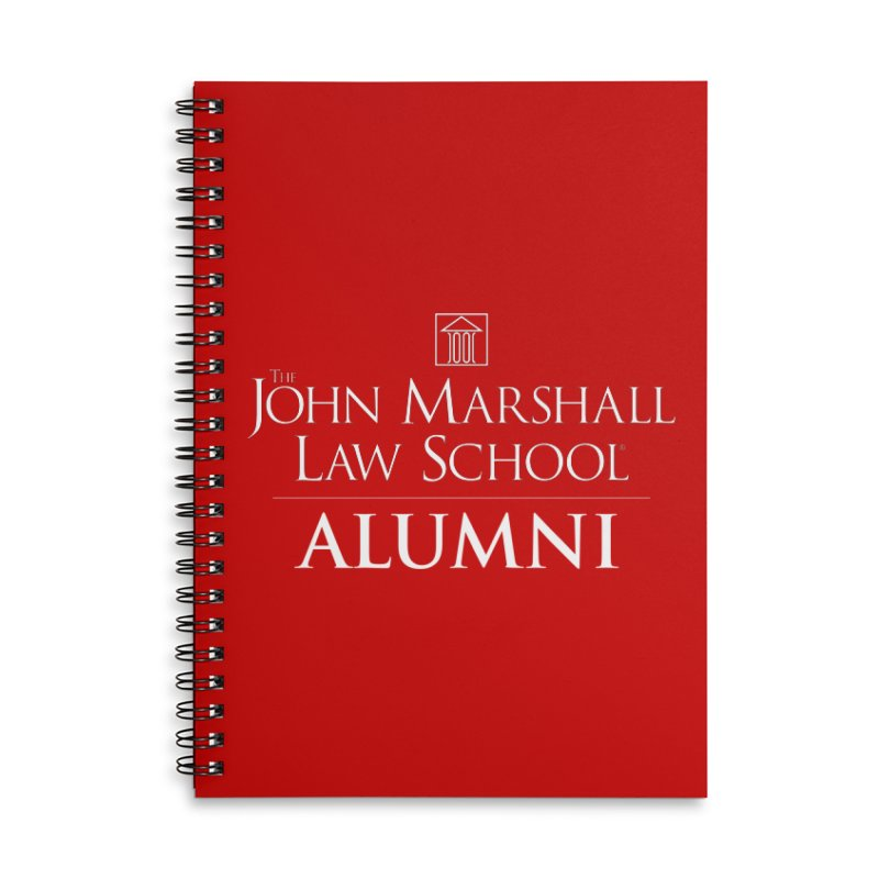 JMLS Alumni Accessories Lined Spiral Notebook by John Marshall Law School