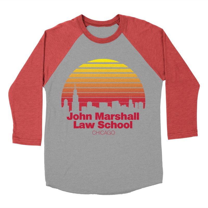 80's Retro Inspired JMLS Women's Baseball Triblend Longsleeve T-Shirt by John Marshall Law School
