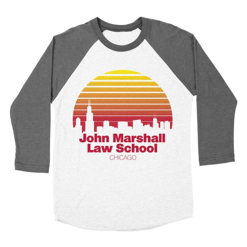 80's Retro Inspired JMLS Men's Baseball Triblend Longsleeve T-Shirt by John Marshall Law School