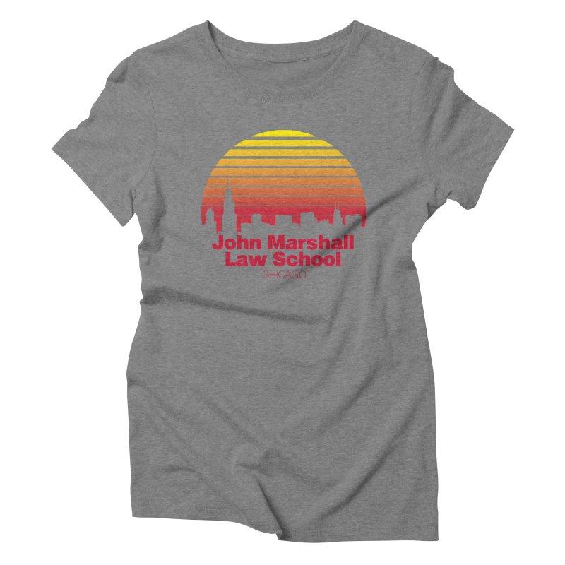 80's Retro Inspired JMLS Women's Triblend T-Shirt by John Marshall Law School