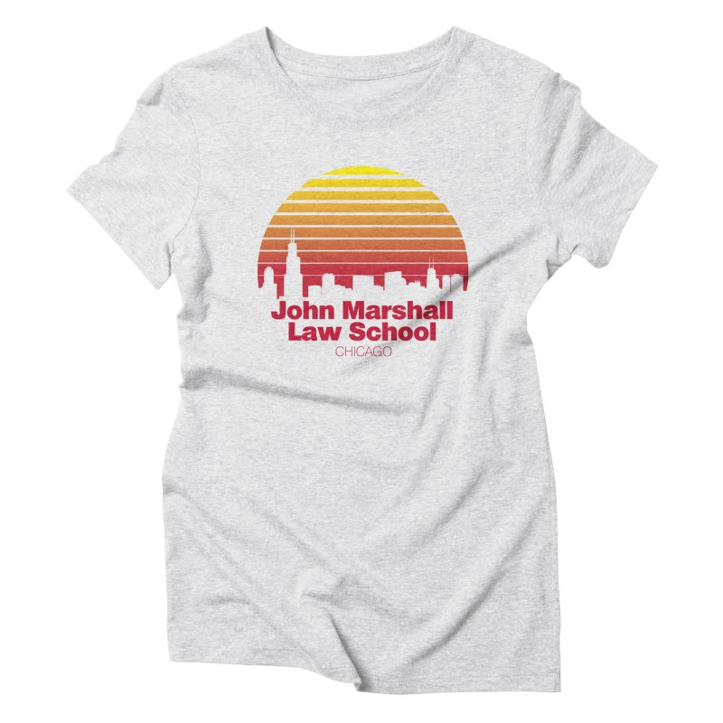 80's Retro Inspired JMLS Women's Triblend T-Shirt by John Marshall Law School