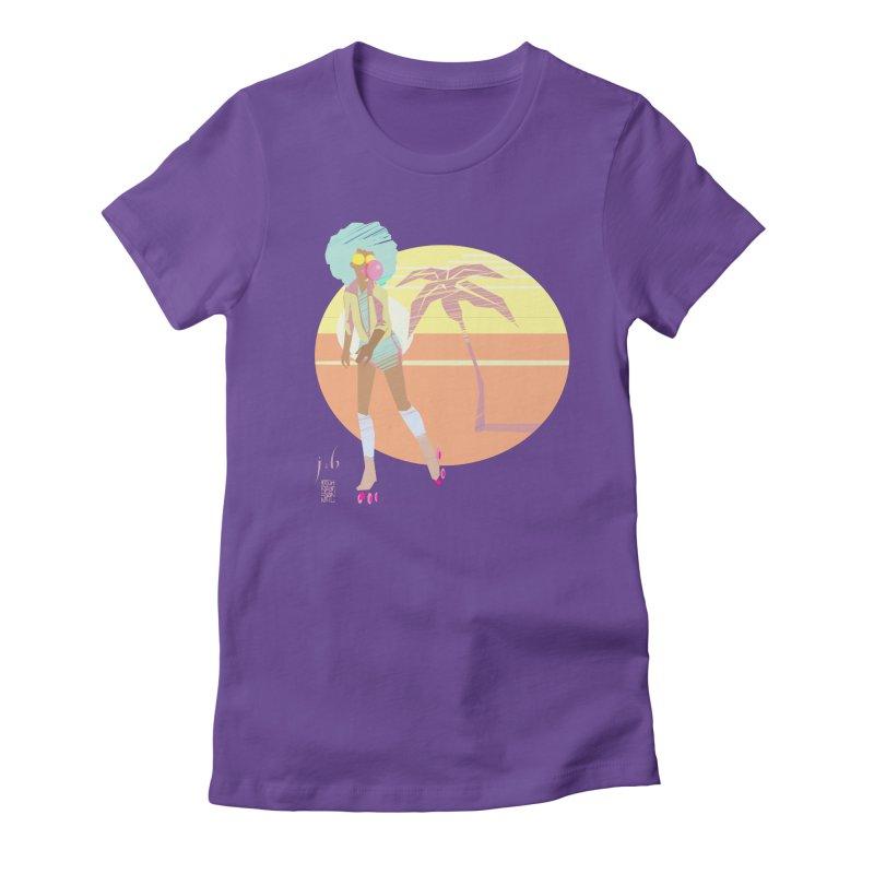Sunset Beach by Jo & Britt + Mike McDonnell Art Women's T-Shirt by Jo & Britt's Shop