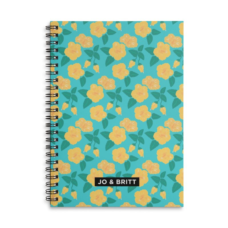 Forever Summer - Yellow Hibiscus Accessories Notebook by Jo & Britt's Shop