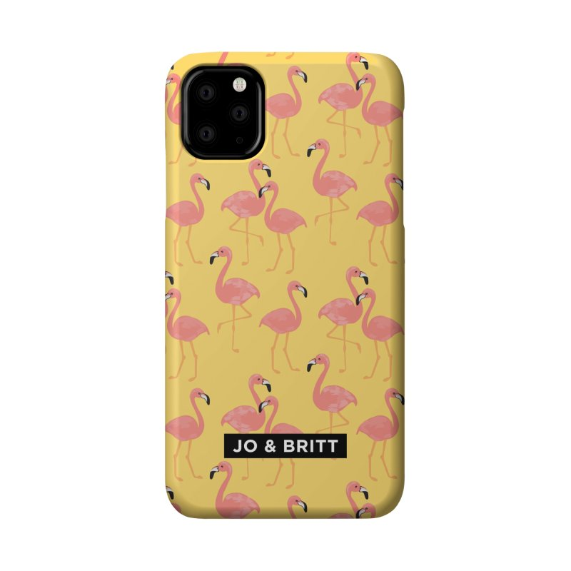 Forever Summer - Yellow Flamingo Accessories Phone Case by Jo & Britt's Shop
