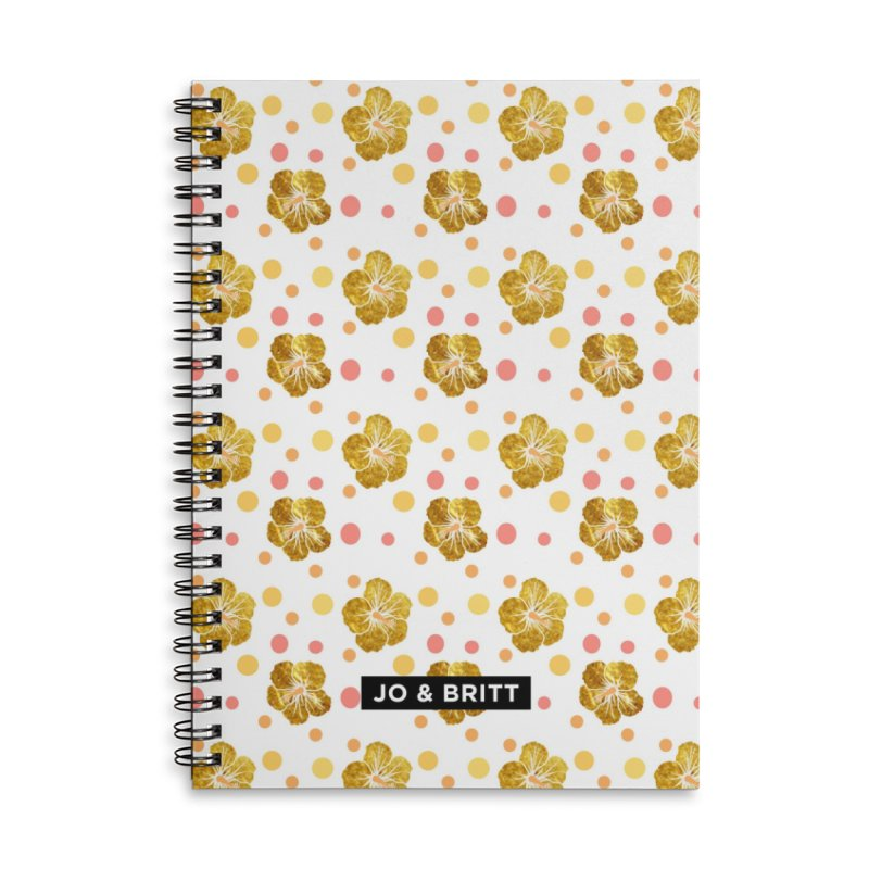 Forever Summer - Gold Hibiscus Accessories Notebook by Jo & Britt's Shop