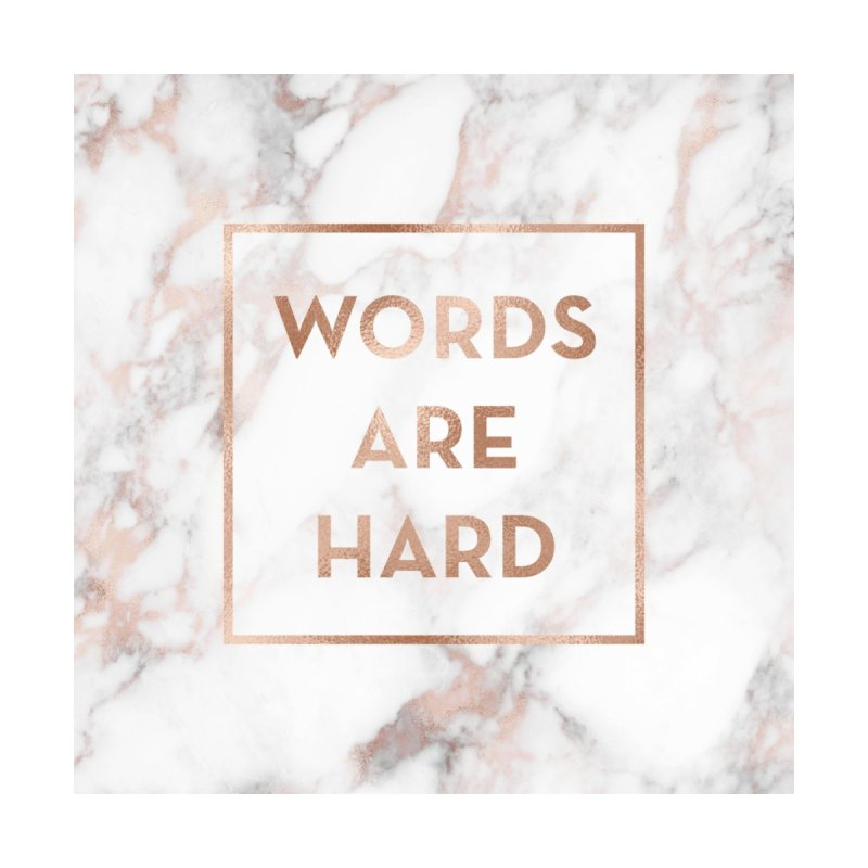 Words Are Hard Journal Accessories Notebook by Jo & Britt's Shop