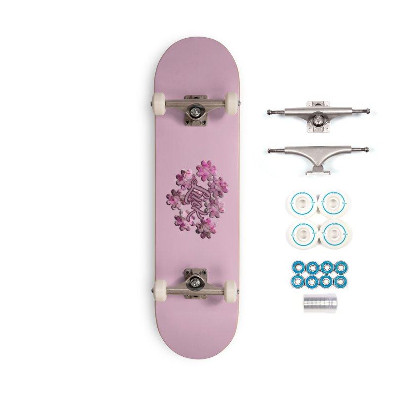 Shamrock Flowery Luck Accessories Skateboard by Joan Ninja Hen's Playground