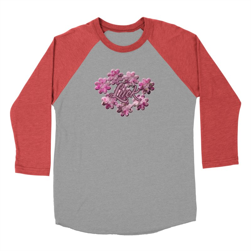 Shamrock Flowery Luck Men's Longsleeve T-Shirt by Joan Ninja Hen's Playground