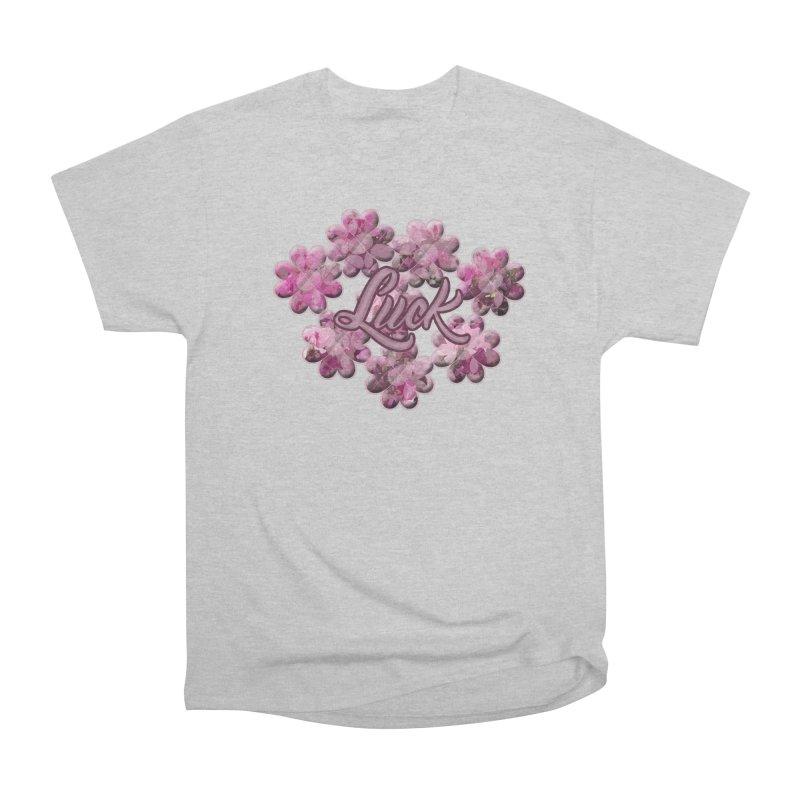 Shamrock Flowery Luck Men's T-Shirt by Joan Ninja Hen's Playground