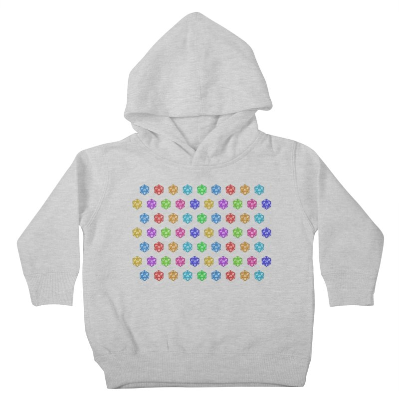 D20 - colorful on white Kids Toddler Pullover Hoody by Joan Ninja Hen's Playground