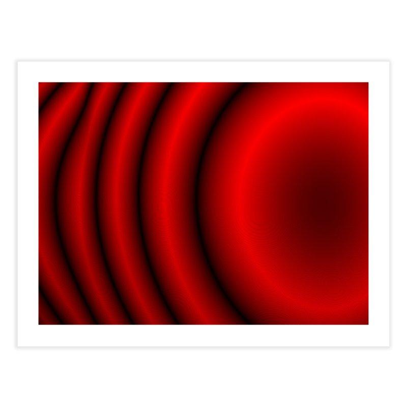 Waves - Red Home Fine Art Print by Joan Ninja Hen's Playground