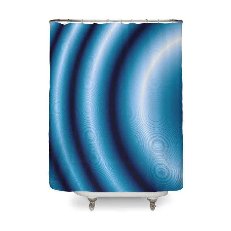 Waves - Blue Home Shower Curtain by Joan Ninja Hen's Playground