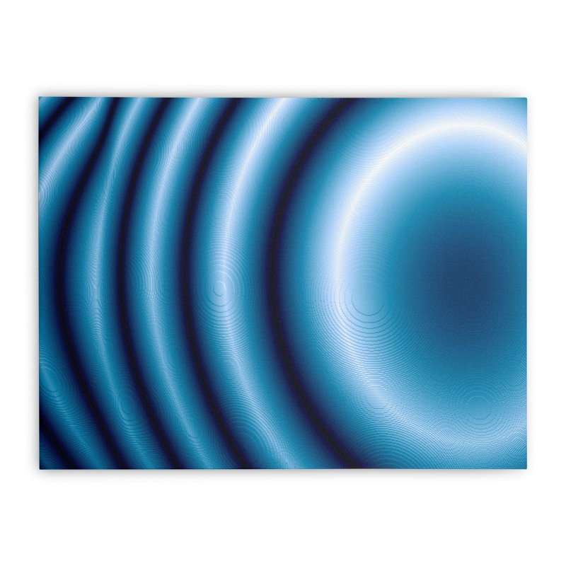 Waves - Blue Home Stretched Canvas by Joan Ninja Hen's Playground
