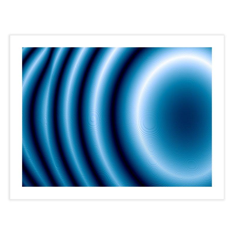 Waves - Blue Home Fine Art Print by Joan Ninja Hen's Playground