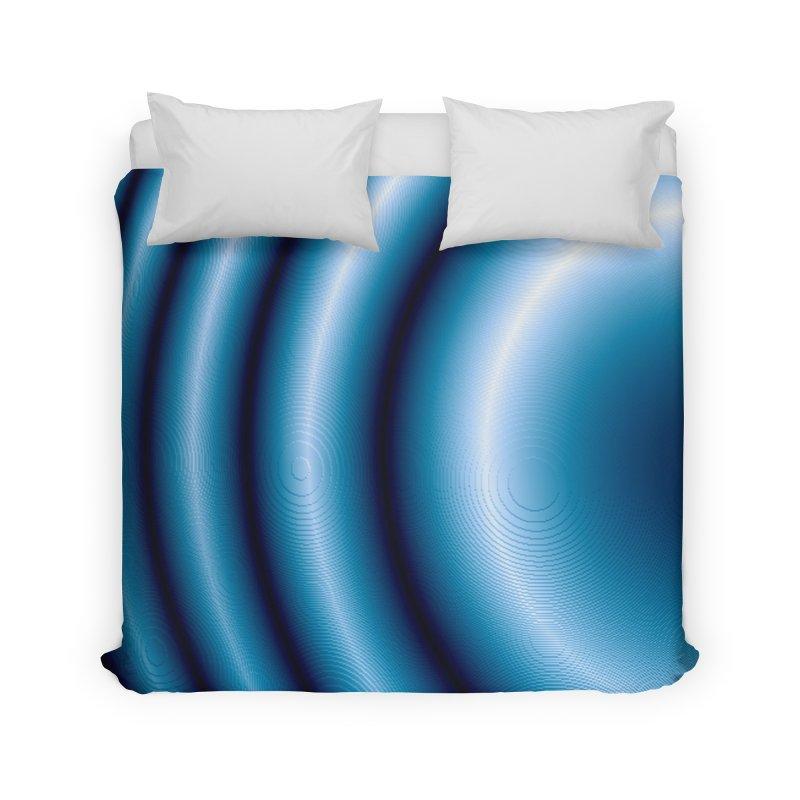 Waves - Blue Home Duvet by Joan Ninja Hen's Playground