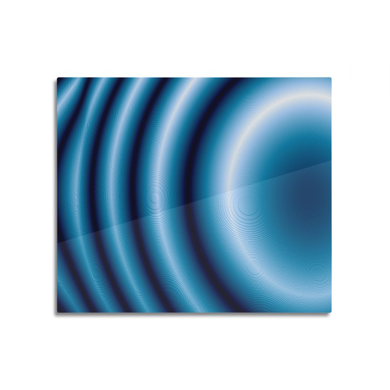 Waves - Blue Home Mounted Aluminum Print by Joan Ninja Hen's Playground