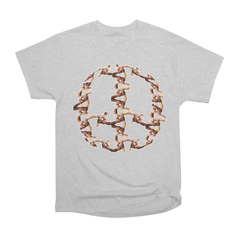 Join Hands in Peace Men's T-Shirt by Joan Ninja Hen's Playground