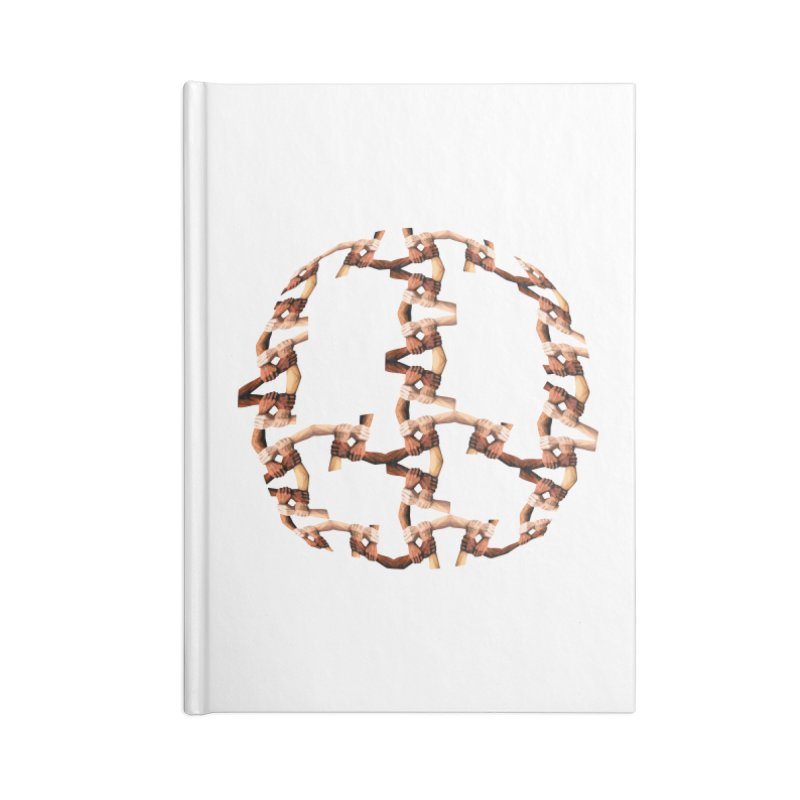 Join Hands in Peace Accessories Notebook by Joan Ninja Hen's Playground