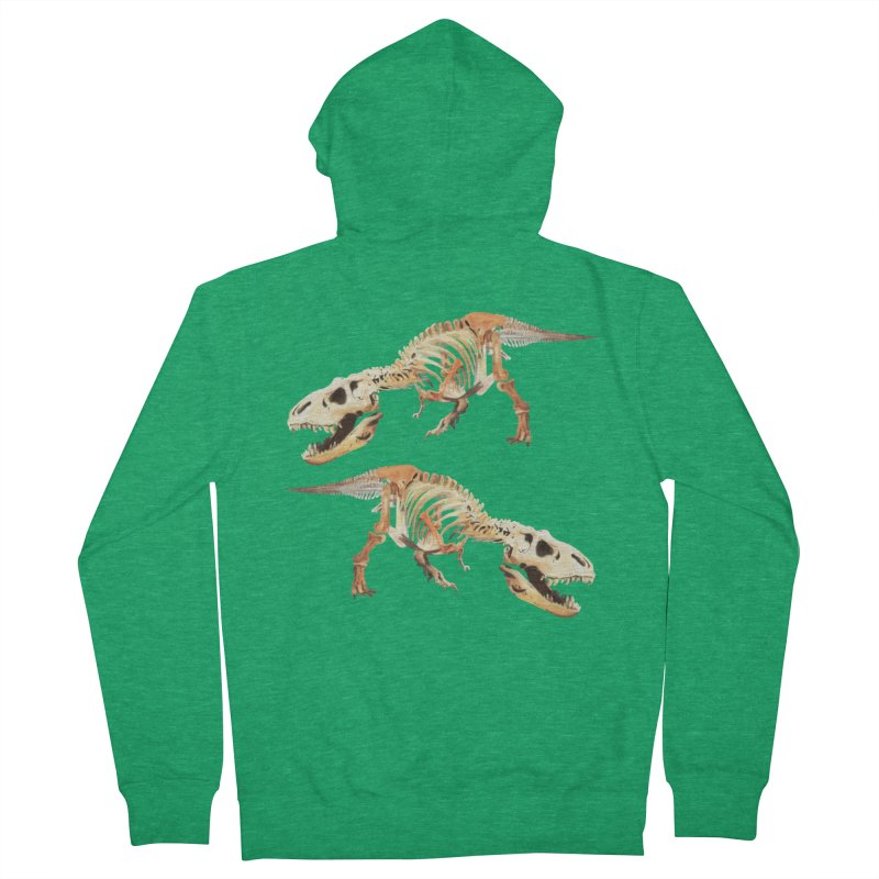 Double T-Rex Women's Zip-Up Hoody by Joan Ninja Hen's Playground
