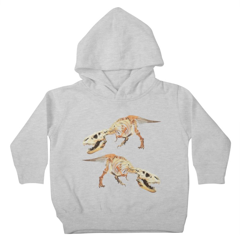 Double T-Rex Kids Toddler Pullover Hoody by Joan Ninja Hen's Playground