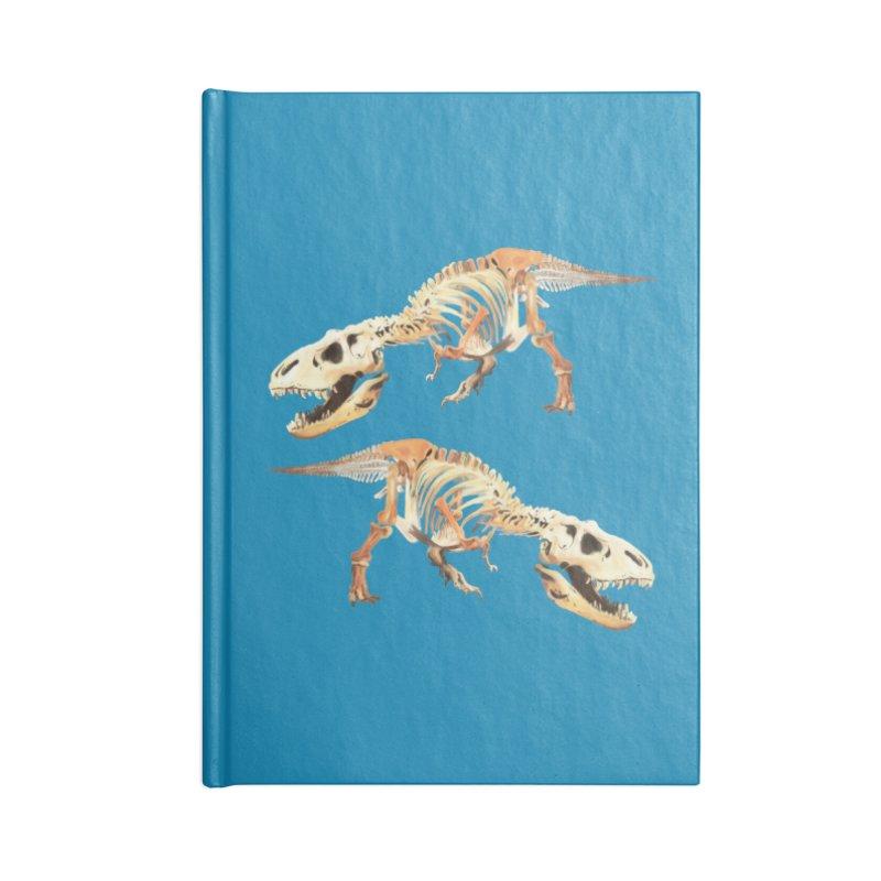 Double T-Rex Accessories Notebook by Joan Ninja Hen's Playground