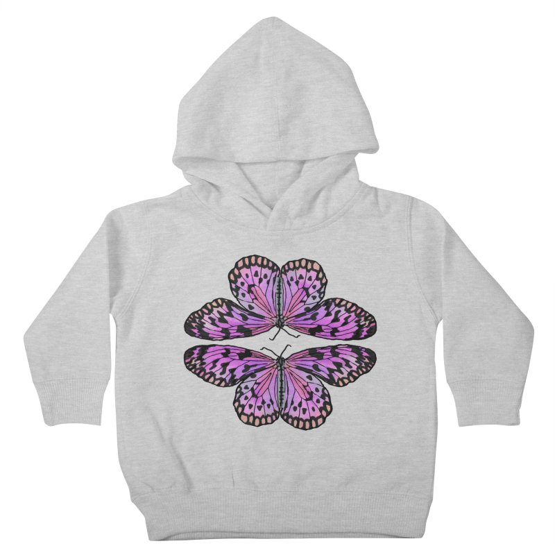 Double Butterfly Kids Toddler Pullover Hoody by Joan Ninja Hen's Playground