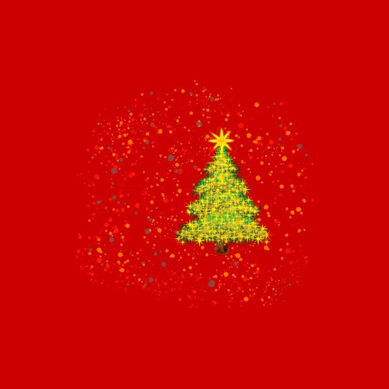 Shiny Christmas Tree Men's T-Shirt by Joan Ninja Hen's Playground
