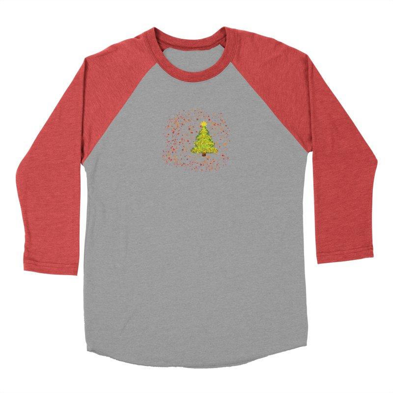 Shiny Christmas Tree Men's Longsleeve T-Shirt by Joan Ninja Hen's Playground