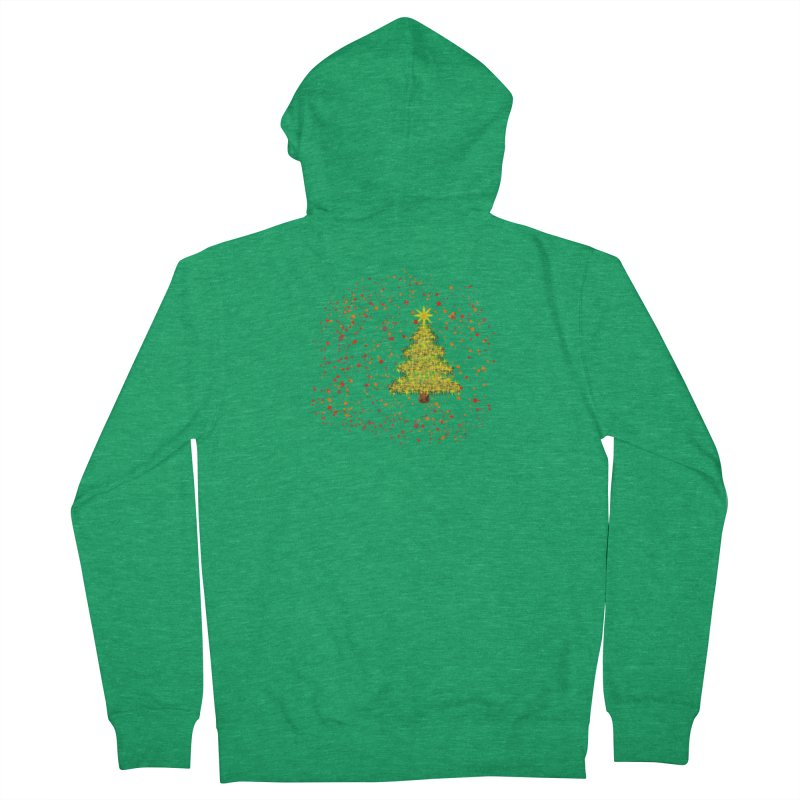 Shiny Christmas Tree Women's Zip-Up Hoody by Joan Ninja Hen's Playground