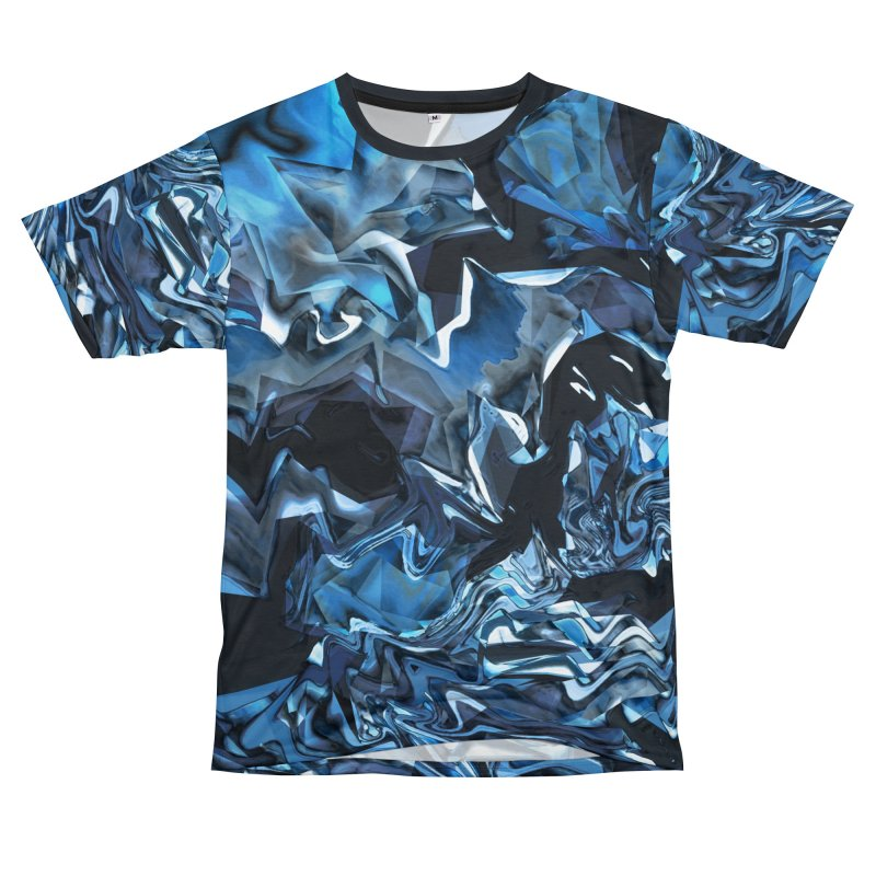 Water Magic - Blue Period Men's Cut & Sew by Joan Ninja Hen's Playground