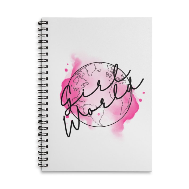 Girl World Accessories Lined Spiral Notebook by Jocelyn Tattoo