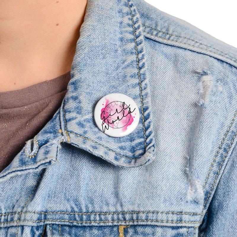 Girl World Accessories Button by Jocelyn Tattoo