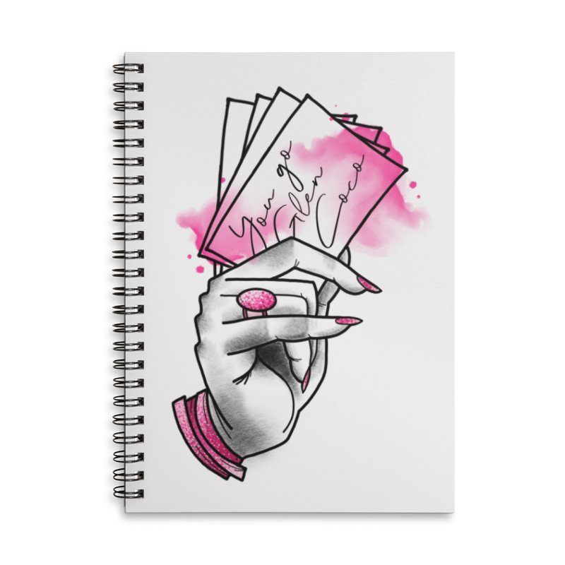 You Go! Accessories Lined Spiral Notebook by Jocelyn Tattoo