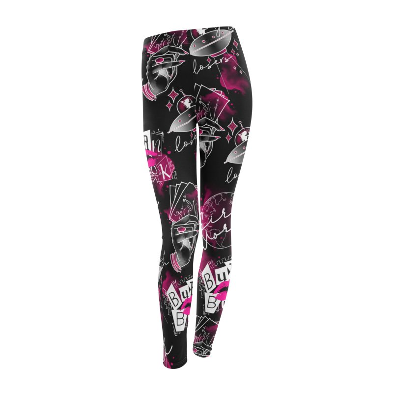 Mean Girls Leggings Black in Women's Leggings Bottoms by Jocelyn Tattoo
