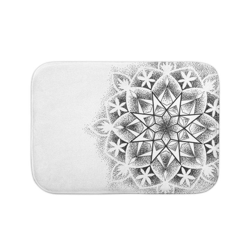 Dotwork Mandala Home Bath Mat by Jocelyn Tattoo