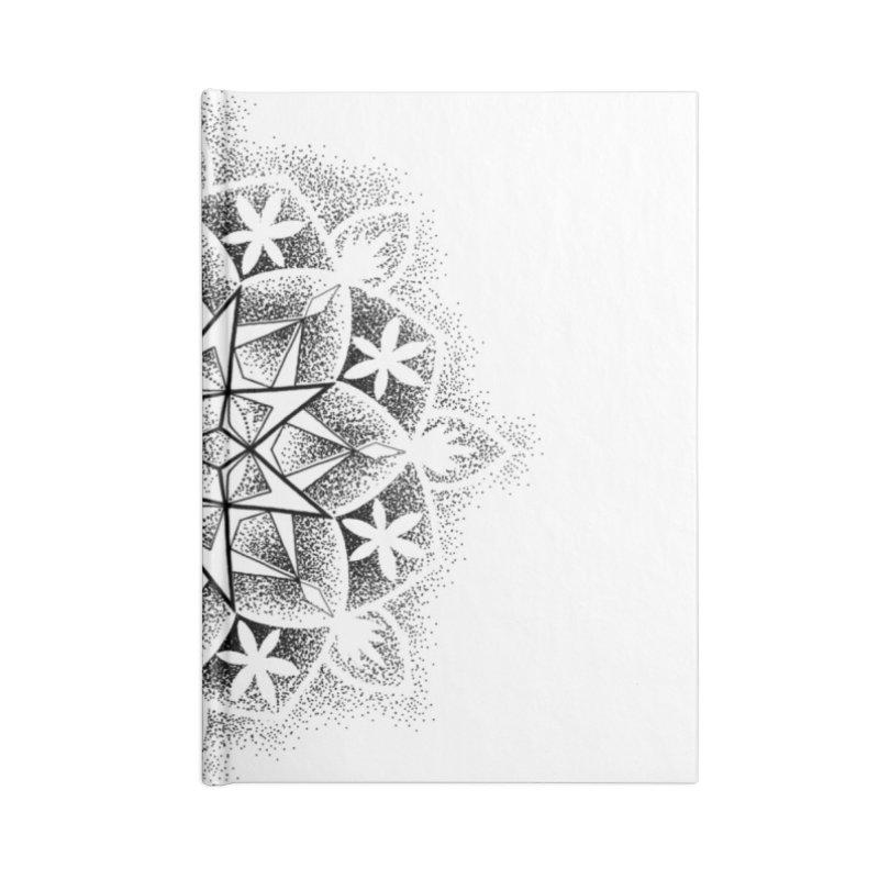 Dotwork Mandala Accessories Blank Journal Notebook by Jocelyn Tattoo