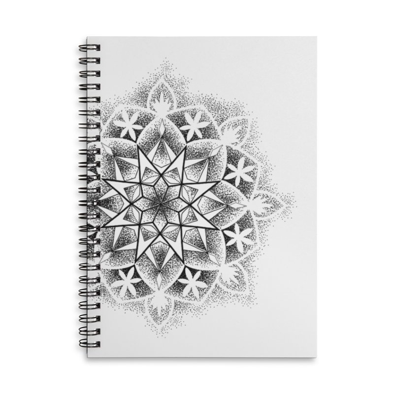 Dotwork Mandala Accessories Lined Spiral Notebook by Jocelyn Tattoo