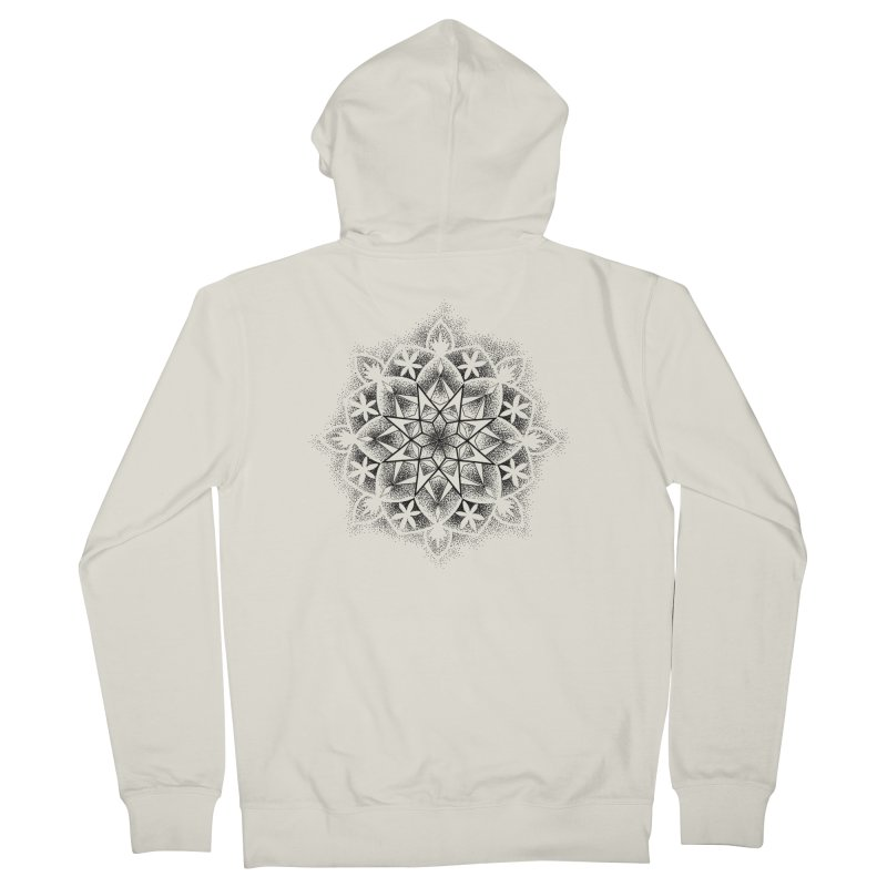 Dotwork Mandala Men's Zip-Up Hoody by Jocelyn Tattoo