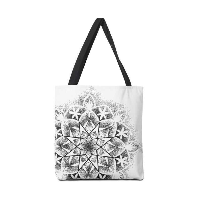 Dotwork Mandala Accessories Tote Bag Bag by Jocelyn Tattoo